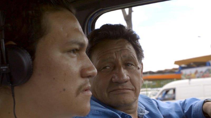 Felipe Monroy et son père Jorge, qui a vécu dans la rue.