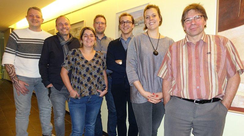 Le Conseil municipal version 2019-2022, avec de gauche à droite : Marcel Gilomen, Jean Luc Berberat, Paula Tanner, Patrick Tanner, Corentin Jeanneret, Josika Iles et Olivier Zimmermann.
