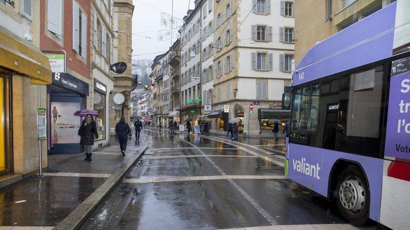 Dès mars 2019, les bus ne passeront plus les samedis à la rue du Seyon, à Neuchâtel.