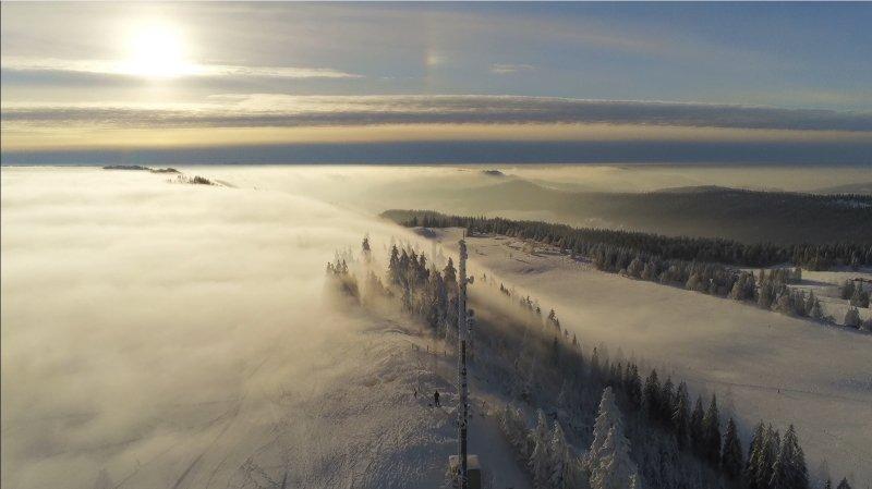 La beauté hivernale capturée par un drone.