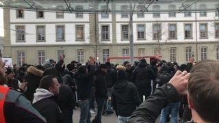 Ligue des champions: les fans de la Juve défilent dans Berne