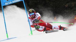 Ski alpin: le Suisse Marco Odermatt part à la faute lors du géant d'Alta Badia, Hirscher triomphe, Meillard 8e