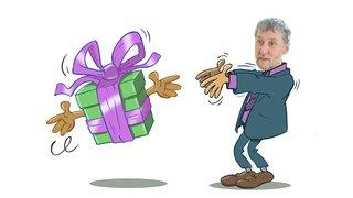 C'est cadeau! Une lampe de poche pour Laurent Debrot