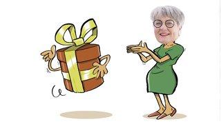 C'est cadeau: une pelle pour Monika Maire-Hefti
