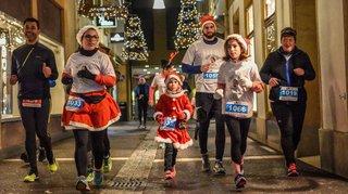 En rémission, Naïa, 8 ans, a bouclé les 3,4 km de la Corrida de Noël de Neuchâtel comme une fleur