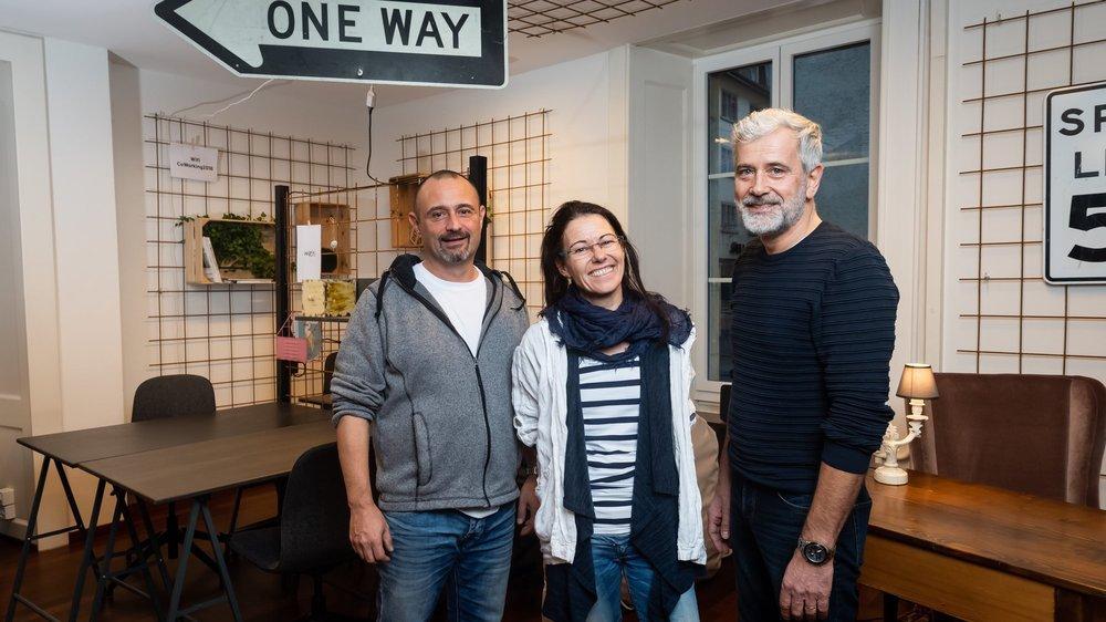 Jean-Marc Narr, Christine Laumann et Philippe Lefeuvre (de g. à dr.) font partie des onze formateurs et coachs que compte l'association Motiv'emploi.