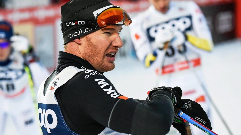 Dario Cologna perplexe. Le Grison n'a pas commencé le Tour de Ski comme il l'aurait souhaité.