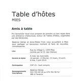 """Table d'hôtes """"Amis à table"""""""