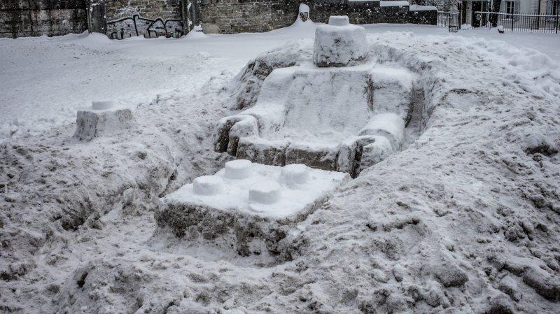Merci qui? Merci la neige!