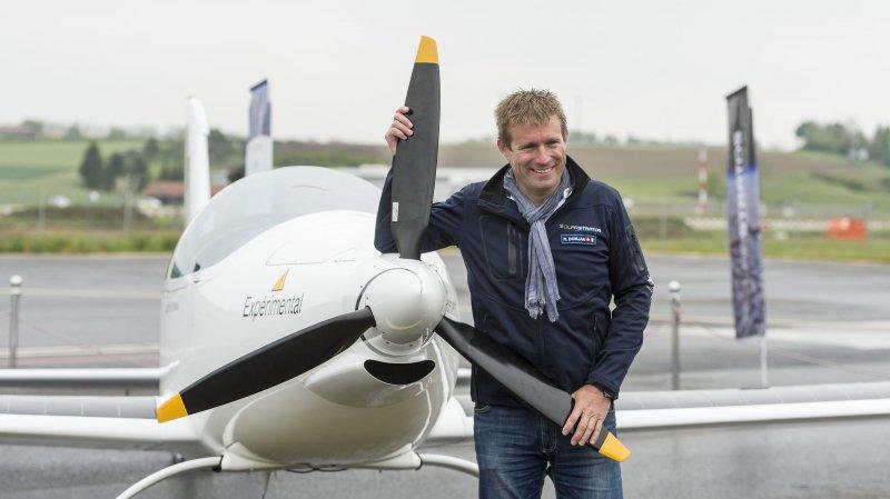 Raphaël Domjan prêt à simuler un vol à 75'000 pieds