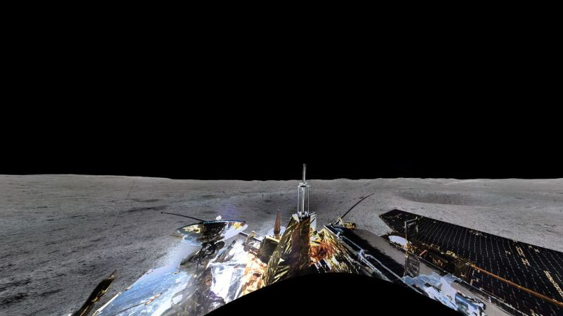 La sonde lunaire chinoise a envoyé depuis la face cachée de la Lune une impressionnante photo panoramique de son lieu d'arrivée.