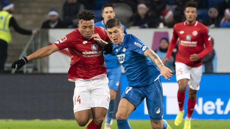 Football: l'attaquant international suisse Steven Zuber prêté par Hoffenheim à Stuttgart