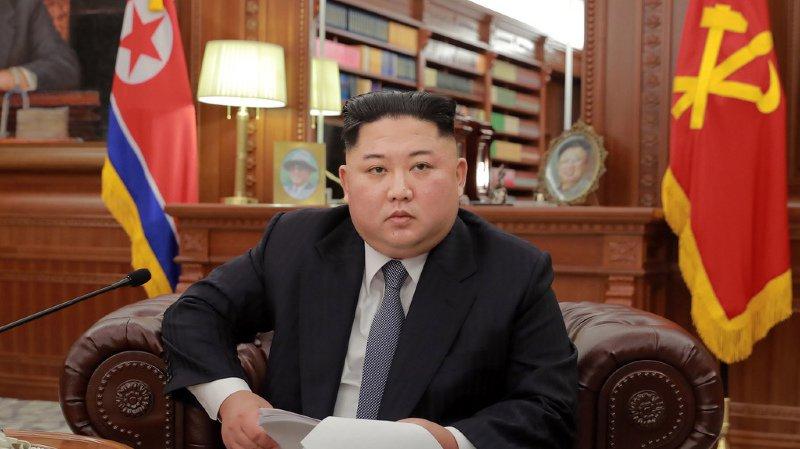 """Lors de son allocution retransmise par la télévision nord-coréenne Kim Jong-un a ainsi affirmé qu'il y aurait une plus grande avancée sur la question de la dénucléarisation si les Etats-Unis prenaient les mesures """"appropriées""""."""