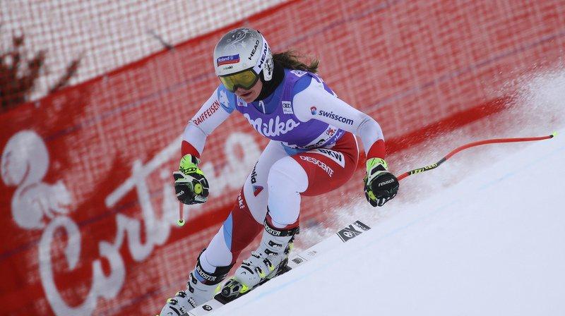 Ski alpin: Corinne Suter termine 2e du second entraînement à Cortina d'Ampezzo