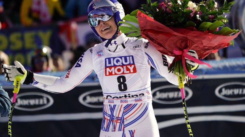 """Ski alpin: l'Américaine Lindsey Vonn a """"peut-être"""" disputé sa dernière course à Cortina"""