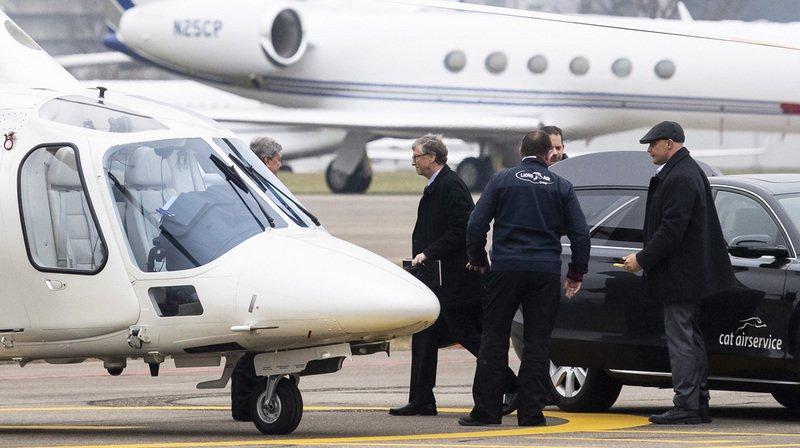 Forum économique de Davos: un nombre record de vols en jet privé