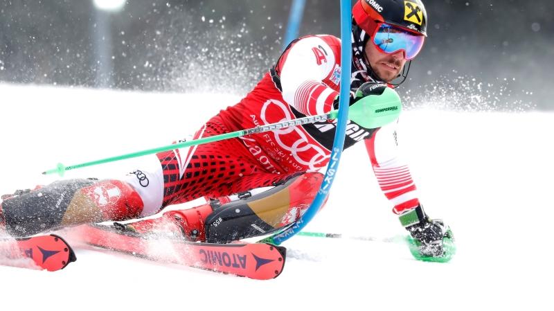 Marcel Hirscher s'est imposé pour la cinquième fois lors des six derniers slaloms de Zagreb.