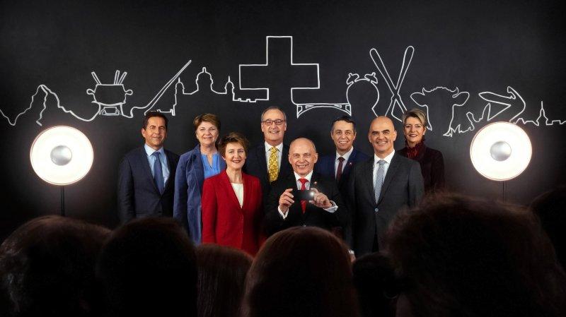 Proche des gens, réalisée par des apprentis: voilà la photo officielle pour l'année 2019 du Conseil fédéral