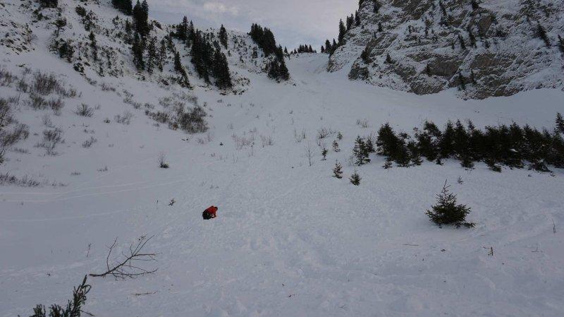 Fribourg: une avalanche au-dessus de Charmey fait un mort et deux blessés