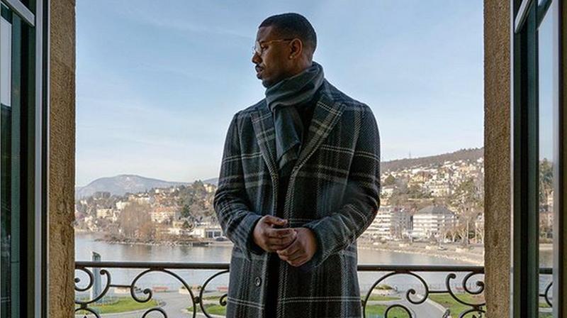 L'acteur américain a pris la pose depuis un balcon du Beau-Rivage.