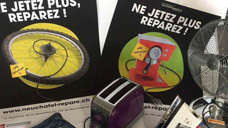 La Ville de Neuchâtel coordonne le projet «Ne jetez plus, réparez !» depuis fin 2016.