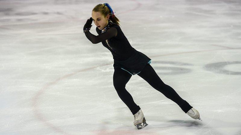 Pauline Irman a offert une médaille inattendue au Club des patineurs de La Chaux-de-Fonds.   LA CHAUX-DE-FONDS 6/01/2019  Photo: Christian Galley