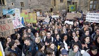 Neuchâtel: la grève pour le climat en images