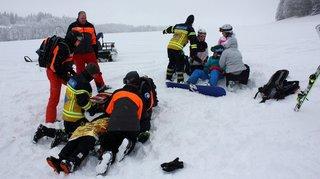 Sauvetage sur la neige à la Corbatière