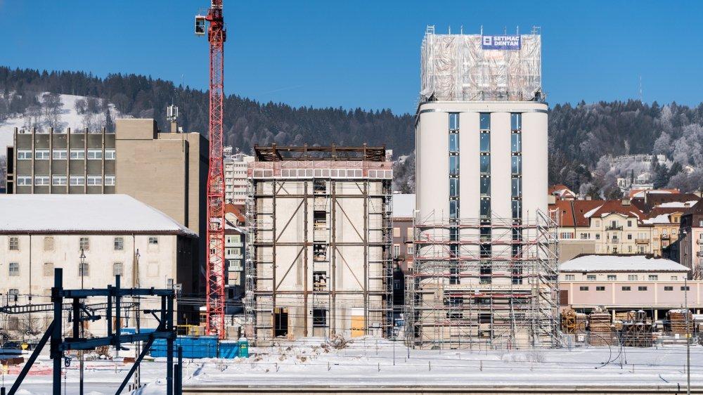 Les travaux dans le plus grand des silo avancent bien.