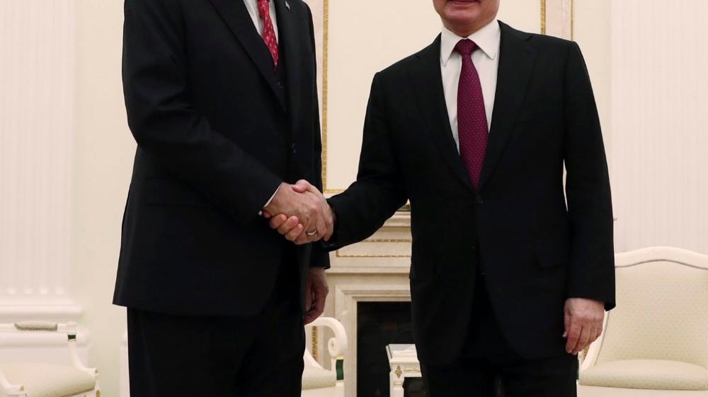 Erdogan et Poutine discutent de la Syrie