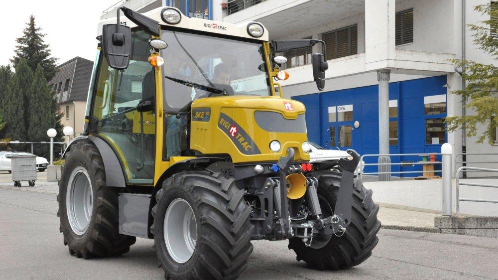Les responsables de Rigitrac croient au potentiel de leur tracteur électrique.