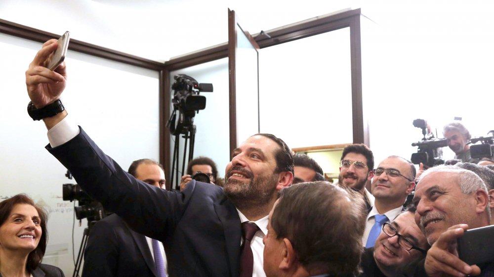 Saad Hariri, au centre, premier ministre sortant, dirigera le nouveau gouvernement libanais.
