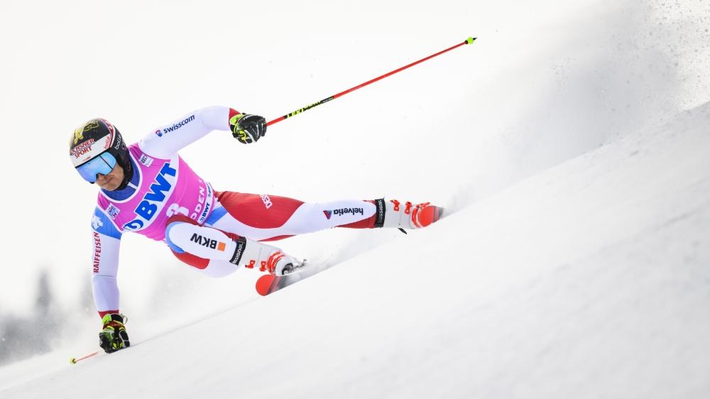 Loïc Meillard sera davantage attendu en slalom géant, discipline dans laquelle il signé trois top-5, dont un deuxième rang, cette saison.