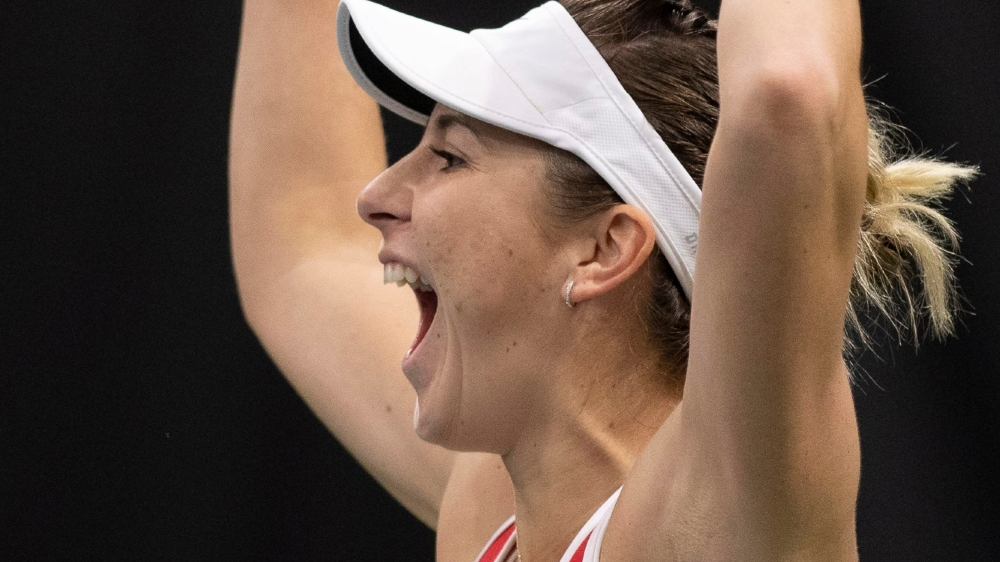 Belinda Bencic s'est comportée en véritable leader de l'équipe de Suisse de FedCup tout au long du week-end biennois.