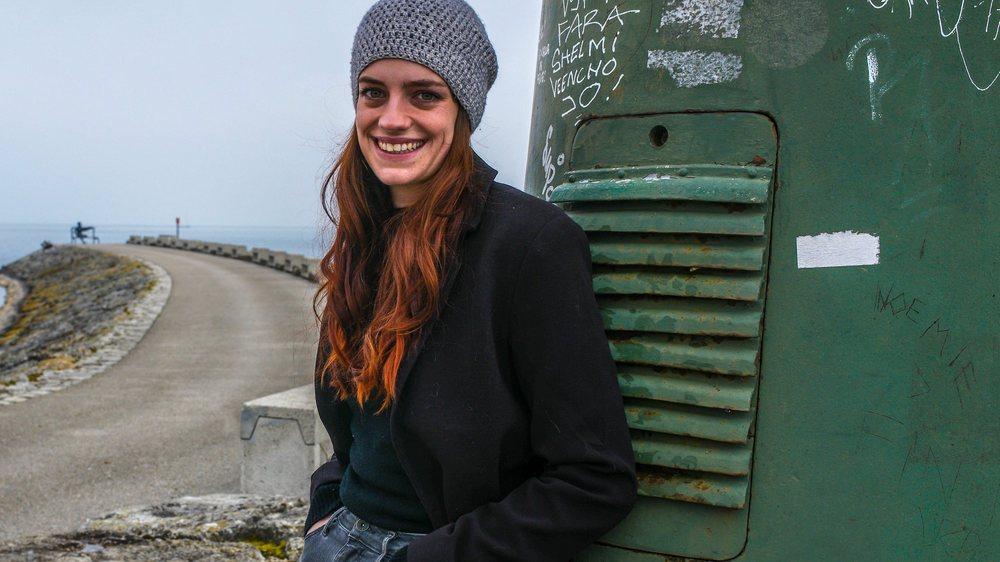 Julie Melichar, de passage au port de Neuchâtel.
