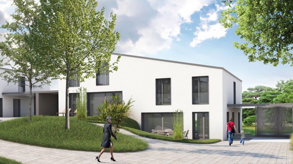 Illustration du projet de logements mené par Prévoyance.ne à la rue des Argilles, à Cressier.