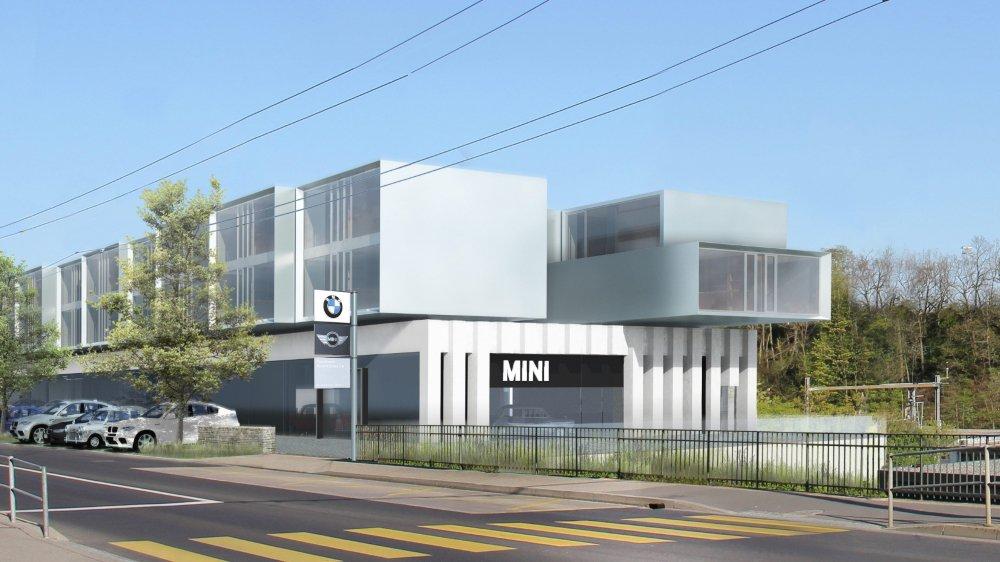 Une image virtuelle du futur bâtiment.