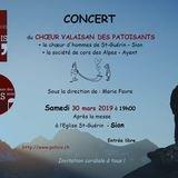 Chants patois et français et partie musicale
