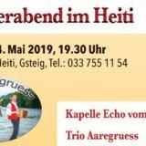Soirée de la musique folklorique Suisse au Heiti