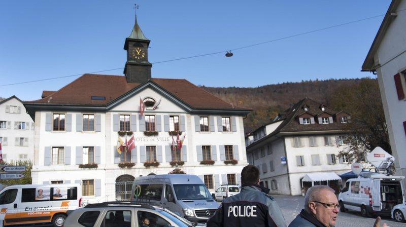 L'Hôtel de Ville de Moutier.