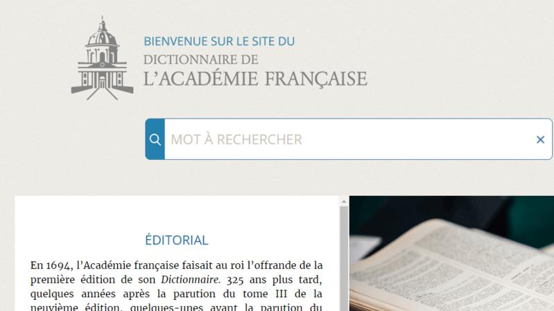 France: le dictionnaire de l'Académie française se dote d'une version numérique