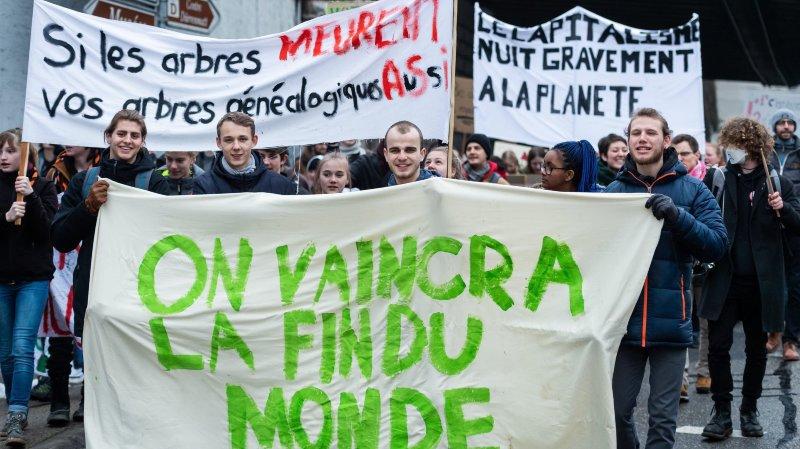 Marche pour le climat à Neuchâtel, le 2 février 2019.