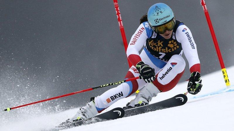 La Suissesse Wendy Holdener a fait une très belle seconde manche, terminant à  la quatrième place. Elle égale ainsi son meilleur résultat en géant.
