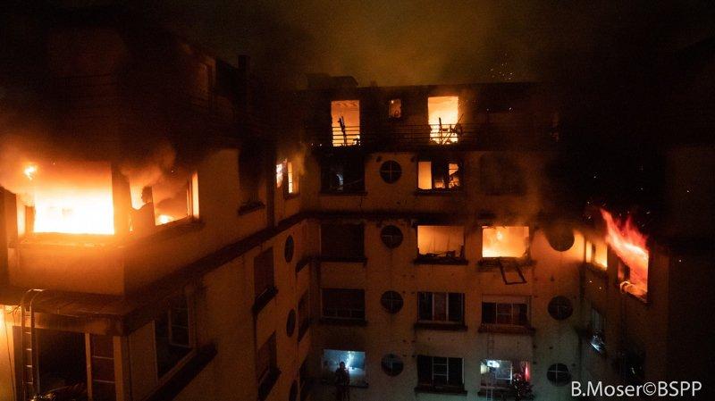 France: la suspecte de l'incendie meurtrier à Paris a été placée en détention provisoire