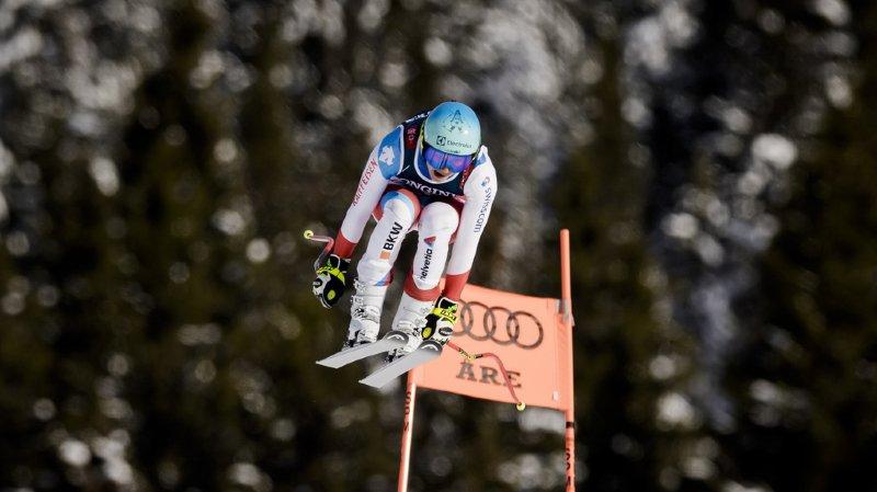 Ski alpin - Mondiaux d'Are: Holdener domine le 3e entraînement de la descente
