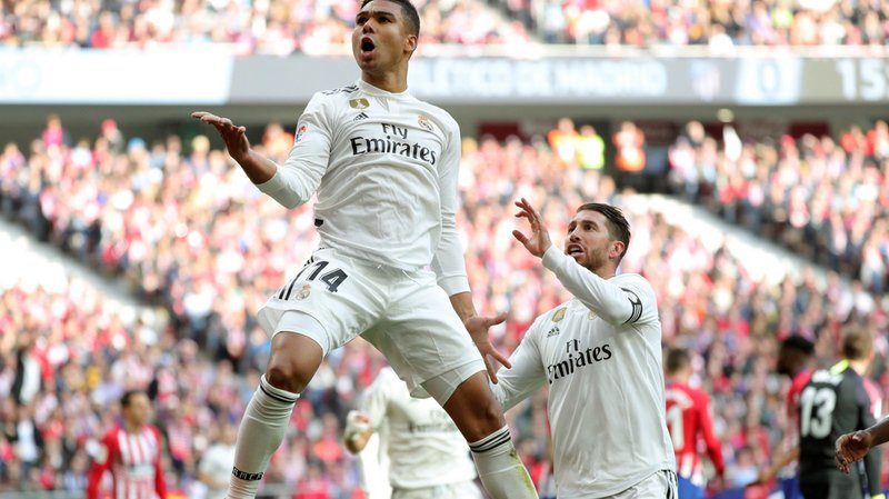 Le succès du Real sur la pelouse de l'Atletico permet au club de s'installer au 2e rang du classement.