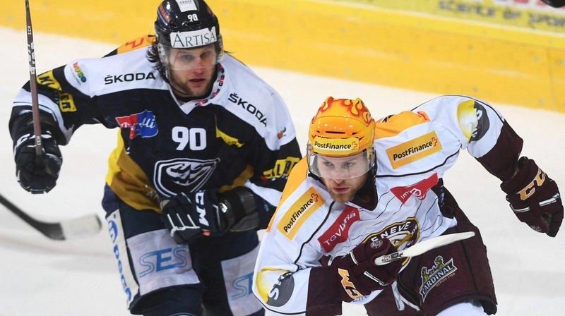 Hockey: Berne se reprend à Bienne, défaite cruelle pour Genève-Servette