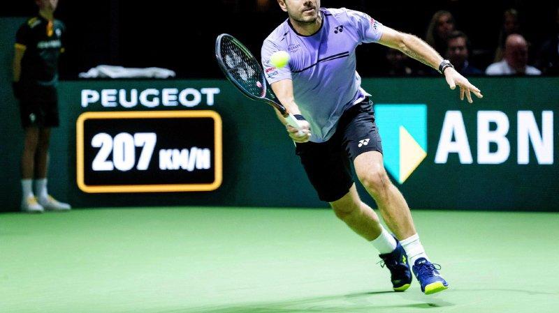Tennis - Tournoi de Rotterdam: Stan Wawrinka bat Raonic et file en quarts de finale