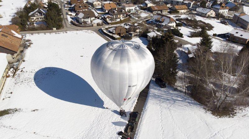 Cette montgolfière Balloon Concept a été gonflée ce mercredi à Charmey.