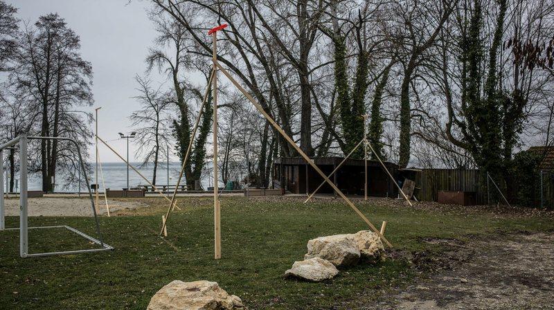 Les gabarits du futur boulodrome couvert sont déjà posés.
